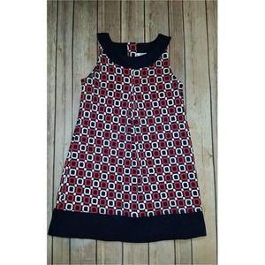 Gymboree Ciao Puppy Geo Print Sleeveless Dress 7